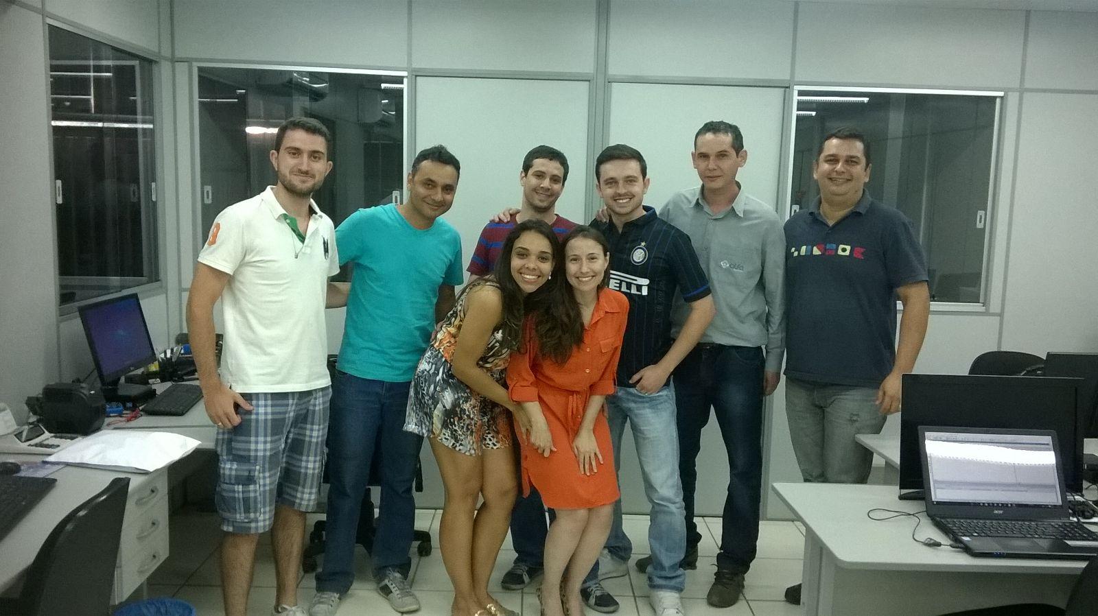 Professora Fernanda Borges (centro) e os alunos da Alfa Engenharia - Treinamento em PRIMAVERA P6
