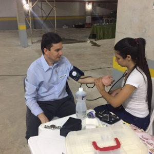 Nossa equipe participando das iniciativas da SIPAT e cuidando da saúde.