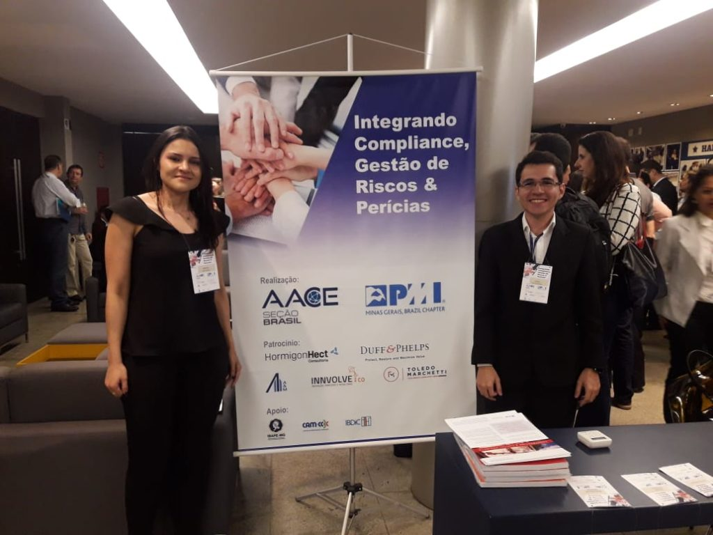 Equipe Saletto os engenheiros Josiel Gomes e Brenda de Paula.